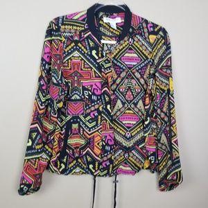 H&M Coachella Geometric Print Chiffon Jacket, 12